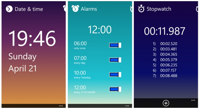 Oh Clock available for Windows Phone, voice commands included