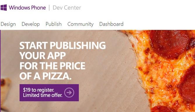 Windows Phone Dev Center promotion 2013