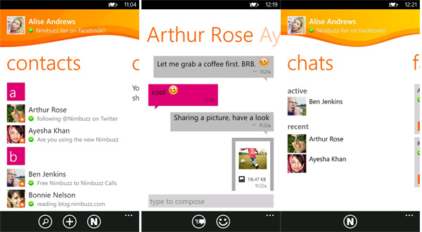 Nimbuzz for Windows Phone gets a new update