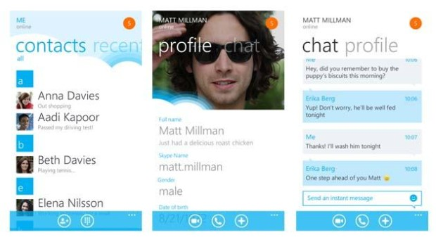 Skype for Windows Phone 8 updated to version 2.8