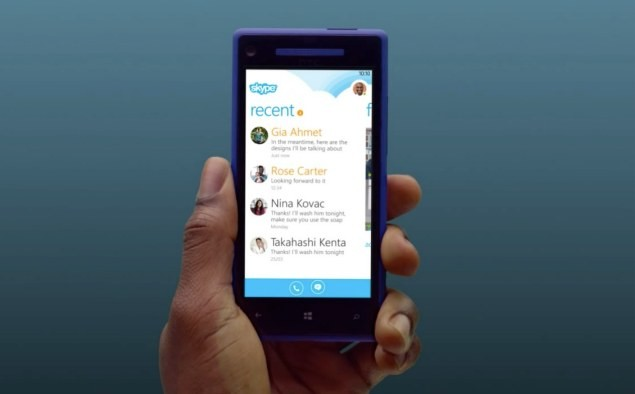 Skype for Windows Phone 8 updated