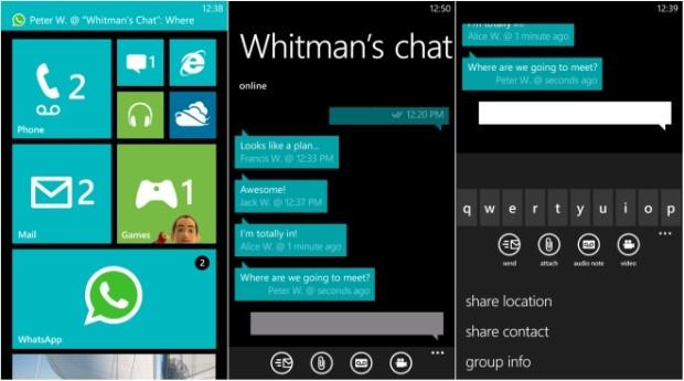 WhatsApp for Windows Phone updated