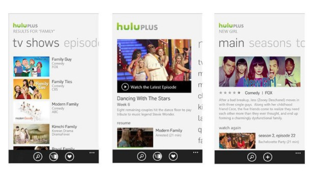 Hulu Plus for Windows Phone with support for Kids corner