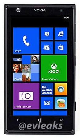 Nokia Lumia 1020 AT&T front picture