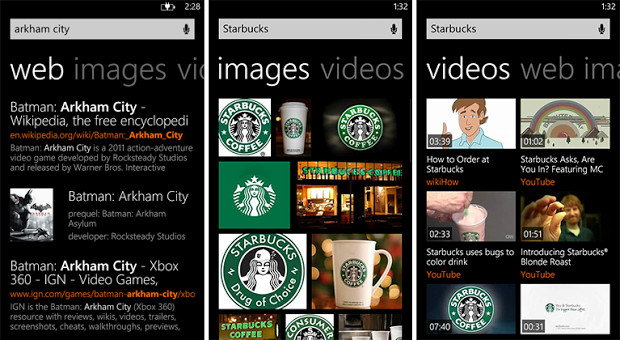 Bing search results on Windows Phone 8 get a new design 2