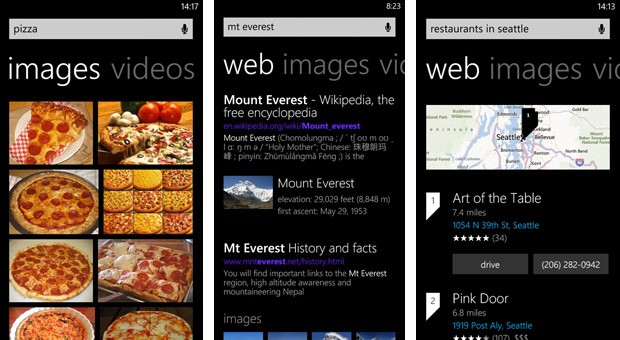 New look and features for Bing on Windows Phone 8 revealed