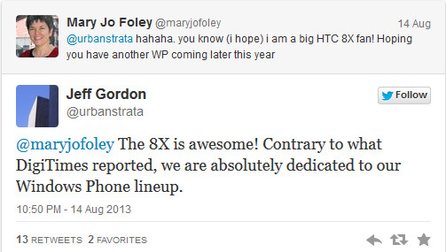 HTC to make a Windows Phone version of its flagship HTC One