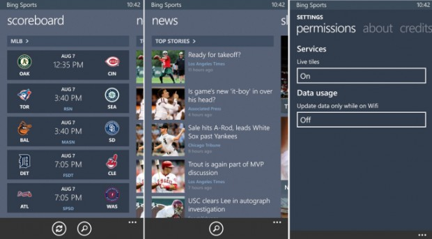 Microsoft released Bing Apps for Windows Phone 8