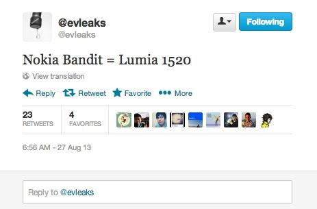 evleaks Nokia Lumia 1520