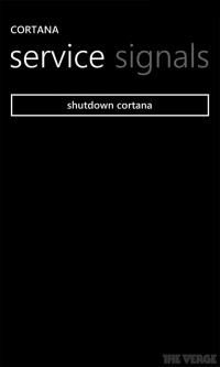 cortana service signals