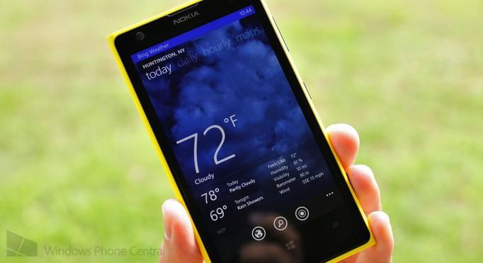 Bing Weather Windows Phone 8 lock screen