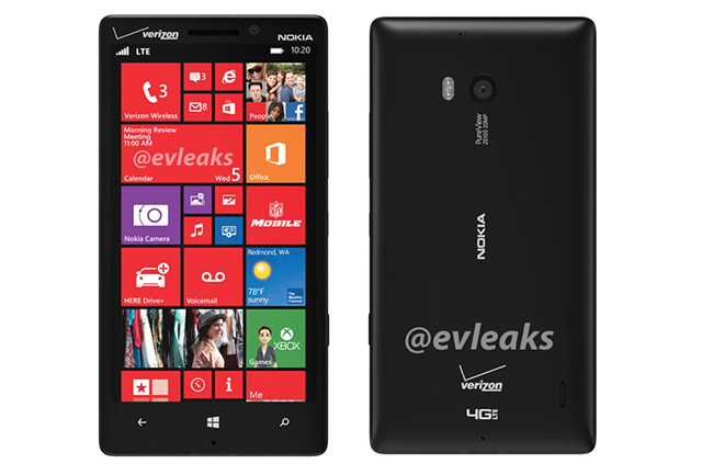Lumia 929 front and back picture