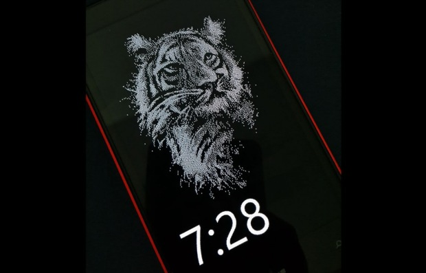glance screen of a lumia device having the glance background app