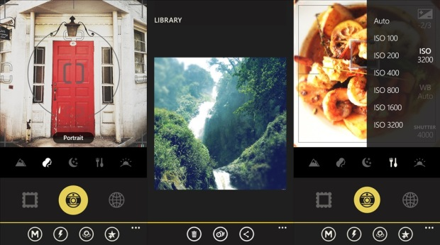 Oggl screens of the photo app for Windows Phone