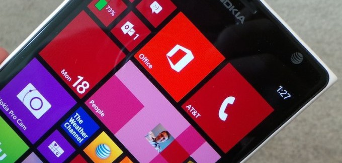 Front image of the Lumia 1520