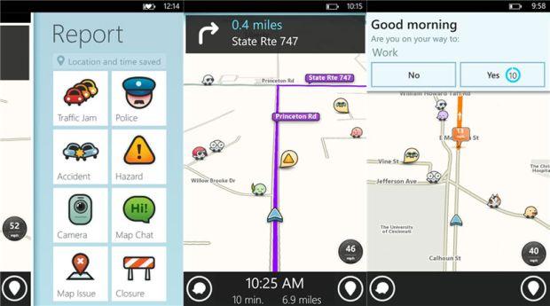 Screenshot of Waze for Windows Phone