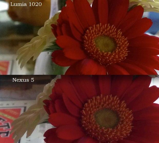 Nokia Lumia 1020 vs Nexus 5 indoors