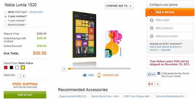 Lumia 1520 model for AT&T