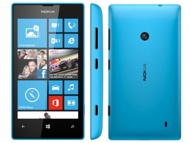 Nokia Lumia 520 front and back image