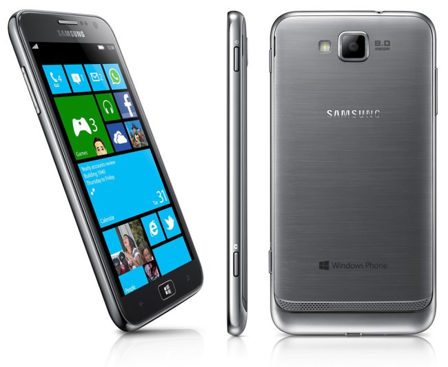 Front, side and back of Samsung Ativ S