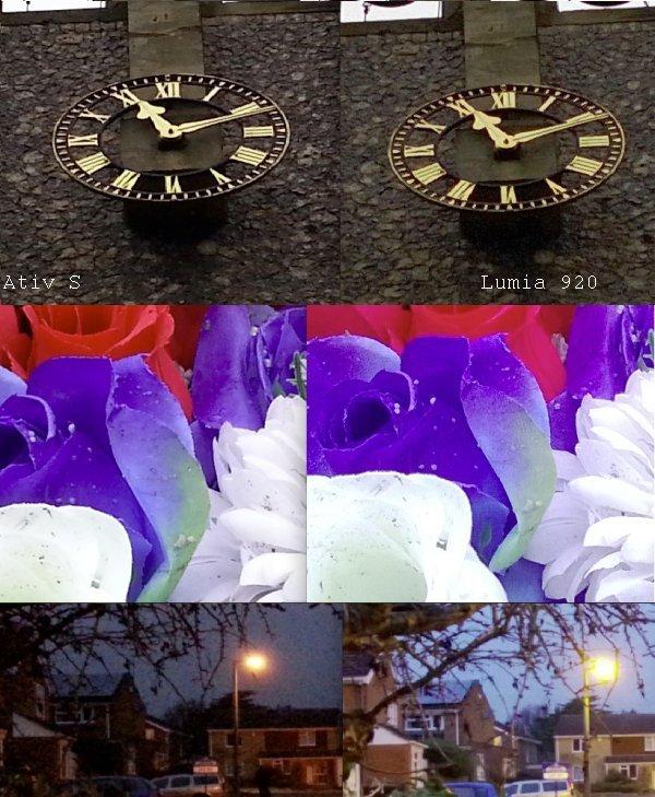 a camera comparison between Lumia 920 and Ativ S