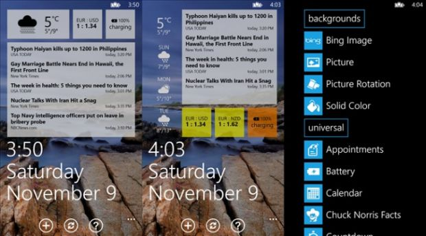 Screenshot of Lockmix for Windows Phone 8