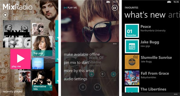 Nokia MixRadio for Windows Phone