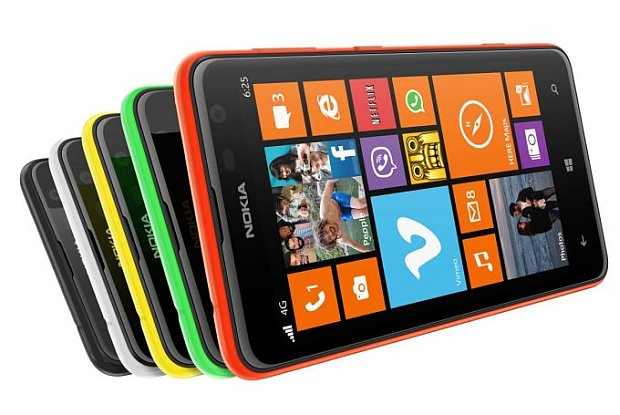 A group image of Lumias 625