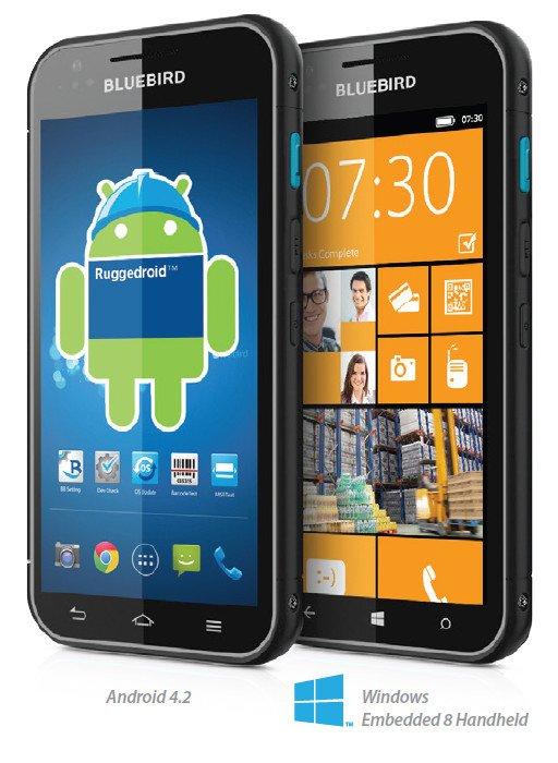 Bluebird BM180 runs Windows Phoen or Android