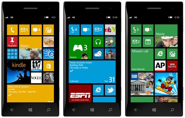Sony Windows Phone 8 models mock-up