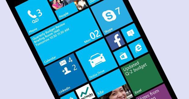 Windows Phone home screen