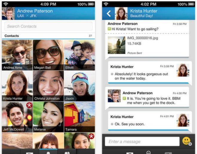 BBM for Android screenshots