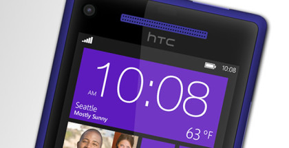 front picture of HTC 8X