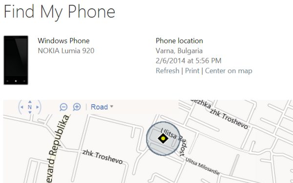 How to find a lost or stolen windows phone using a computer for Window location reload