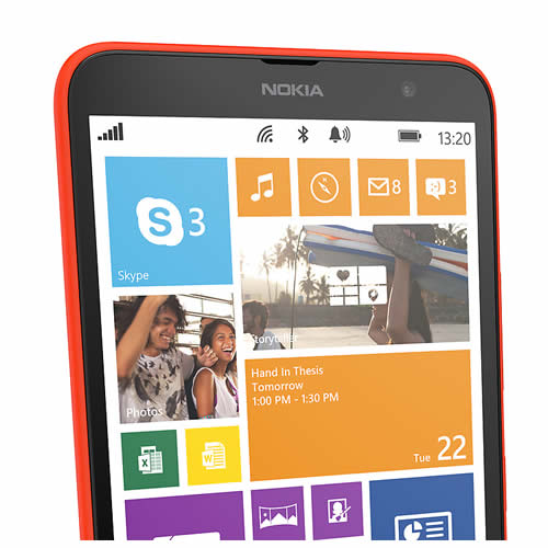 Nokia Lumia 1320 home screen tiles