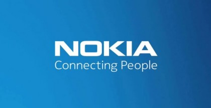 Nokia logo in blue / white