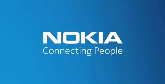 Nokia logo in blue / white
