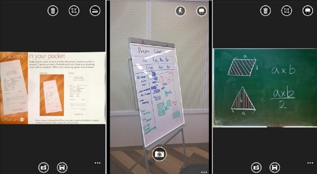 Office Lens One note Windows Phone application scanner