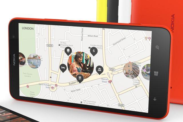 Nokia Lumia 1320 display, front