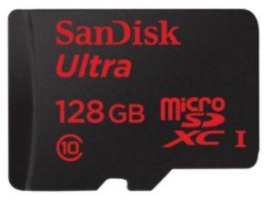 SanDisk ultra 128GB microSD card