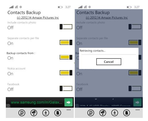 contacts backup app windows phone