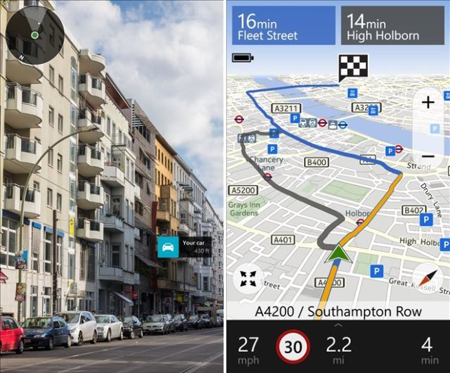 HERE Drive+ and HERE Maps got updated for Windows Phone 8.1