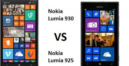 Nokia Lumia 930 vs Lumia 925