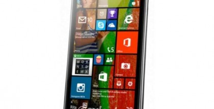 LG Uni8 running WIndows Phone 8.1 smartphone