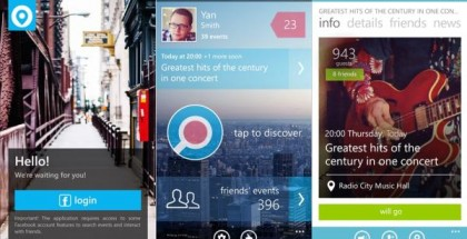 LocalEvents for Windows phone 8 screenshots