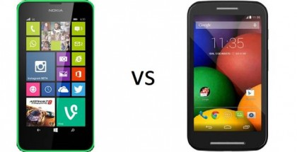 Nokia Lumia 630 vs Motorola Moto E