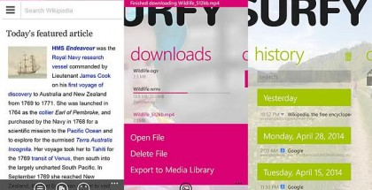 Surfy 4.0 browser with a new look