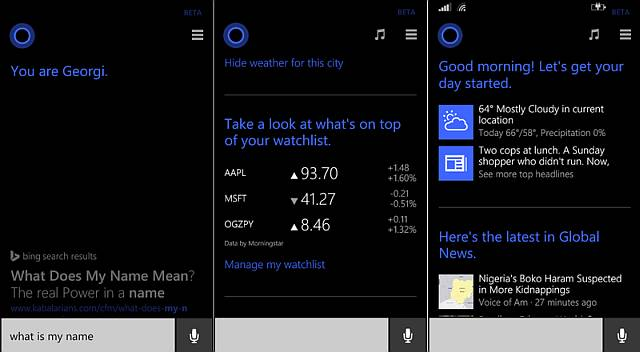 Cortana changes new features for WIndows phone 8.1