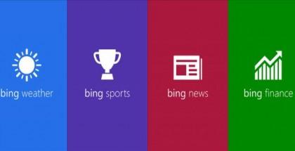 Bing Apps logos