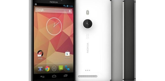 Nokia Lumia 925 with Android mock-up